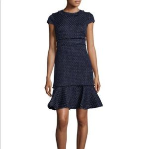 Karl Lagerfeld black tweed sheath dress